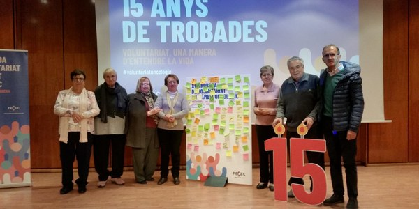 Els membres de l'associació participants de la trobada
