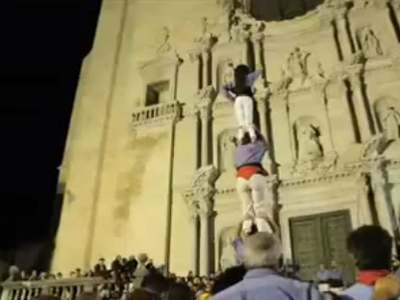 Castellers a la Catedral de Girona